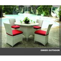 Buy cheap High grade outdoor white wicker dining sets furniture OMR-G161 from wholesalers
