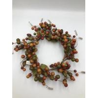 Buy cheap 1.8cm mixed berry + leaves wreath 25x25x5cm (3 style) from wholesalers