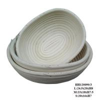 Buy cheap White oval rattan cane basket from wholesalers
