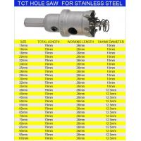 Buy cheap HSS Twist Drill Bits TCT HOLE SAW FOR STAINLESS STEEL from wholesalers