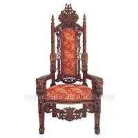 Wholesale Scroll Mahogany Lion King Armchairs Carved MH-CH023 from china suppliers
