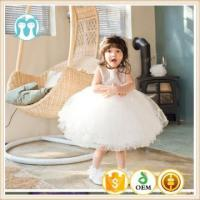 Buy cheap high quality children girls clothing baby dress backless sleeveless children puffy wedding dresses from wholesalers