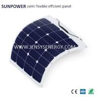 Buy cheap 50W Semi Flexible Sunpower Solar Panels for Camping from wholesalers