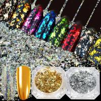 China Nails Series Silver gold foil fragment on sale