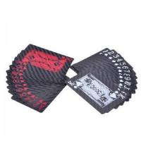 Buy cheap playing poker cards made from carbon fiber with printing from wholesalers