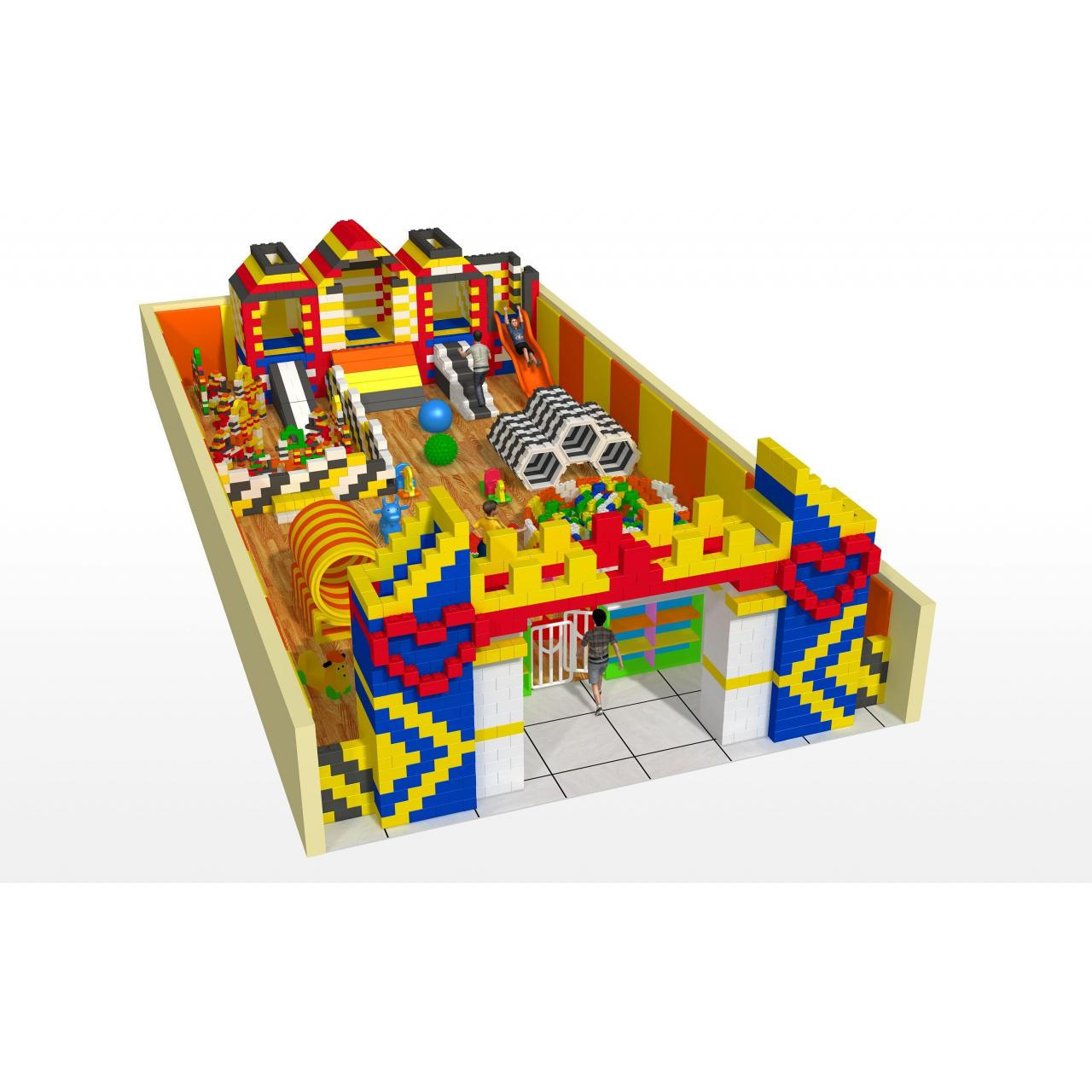 Buy cheap 100square meters Lego castle soft playground for parents and childs from wholesalers