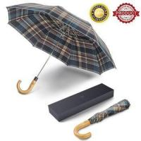 Buy cheap Saiveina Auto Open Fast Dry Travel Umbrella with Wood Crook Handle from wholesalers