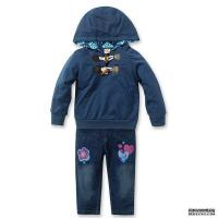 Buy cheap Kids Wear 100% wool fashion design blue jean suits for Girl from wholesalers