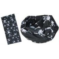 Wholesale Multifunctional Scarf in black and white skull design (YT-892) from china suppliers
