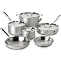 Buy cheap Amazing All Clad Stainless Steel 10 Piece Cookware Set On D5 Brushed from wholesalers