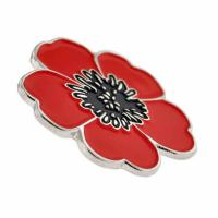 Buy cheap Red Poppy Flower Remembrance Memorial Day Lapel Pin from wholesalers
