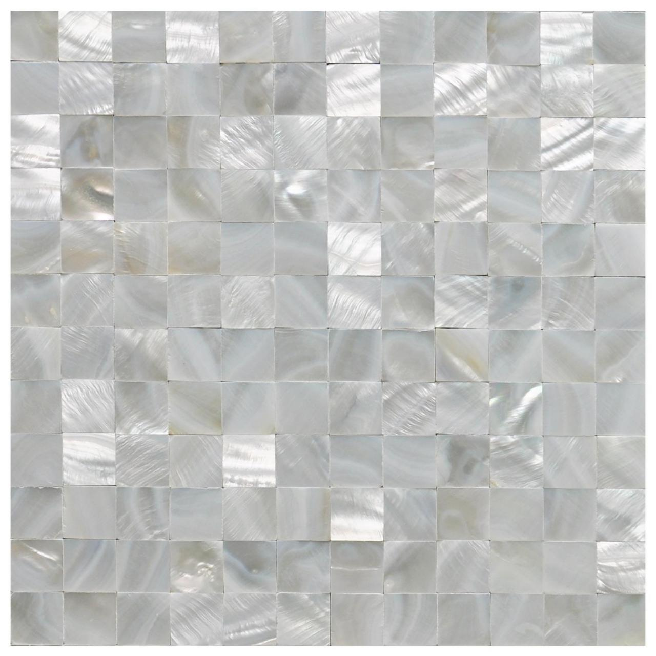 Buy cheap A18011 - Mother of Pearl Shell White Square Seamless Mosaic Tile, 12x12 from wholesalers