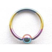 Buy cheap Ball Closure Rings Titanium Anodized Steel Ball Closure Ring from wholesalers