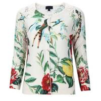 Buy cheap CARDIGAN Lace Patchwork Cotton Printed Knitted Cardigan from wholesalers