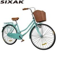 China Retro City bike 26 for men single speed Princess bike cycling for lady with brake on sale