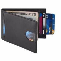 Buy cheap Amazon Best Selling RFID Blocking Credit Card Holder Classical Men Genuine Leather Bifold Wallet from wholesalers