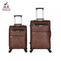 Buy cheap Brown classic oil leather suitcase luggage bag from wholesalers