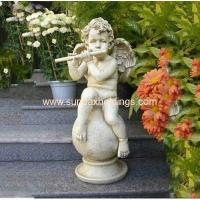 Wholesale Garden Series SF28712A- Musical Garden Resin Large Angel Statue from china suppliers