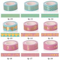 China 15mm*10m Decoration Gold Foil Masking Tape for Gift on sale