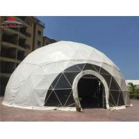 Wholesale White PVC Fabric Geodesic Dome Shelter / Transparent 5m Small Dome Tent from china suppliers