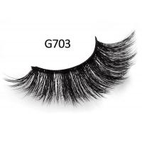 Buy cheap G703# 3D Mink Extended Eyelashes 15mm Long and thick fake Eye lash from wholesalers