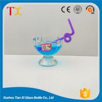Buy cheap Beverage bottles 150ml flower shaped jelly glass ice cream cup from wholesalers